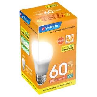 LED電球 「バーベイタム」(一般電球形[広配光タイプ]・全光束810lm/電球色相当・口金E26) LDA8L-G/VP5 【ビックカメラグループオリジナル】