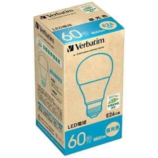 LDA8D-G/V5 LED電球 バーベイタム(Verbatim) [E26 /昼光色 /1個 /60W相当 /一般電球形 /広配光タイプ]