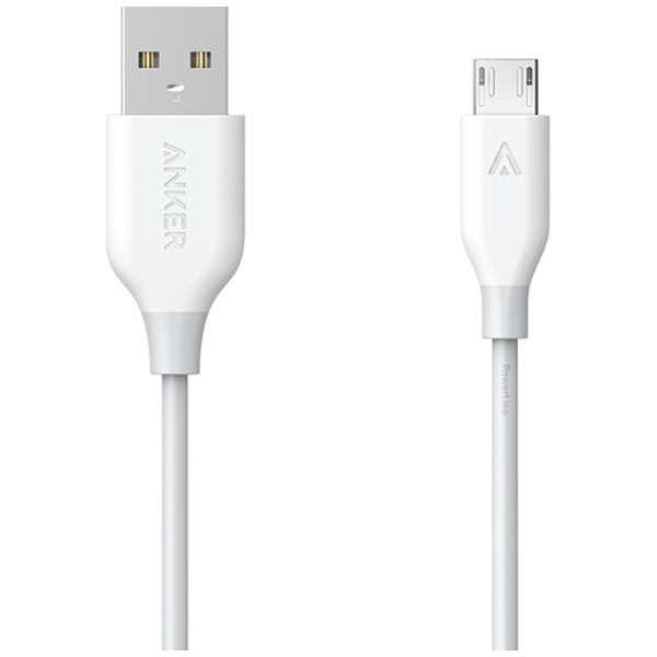 [micro USB]ケーブル 充電・転送 2.4A (1.8m・ホワイト)AnkerA8133021 [1.8m]