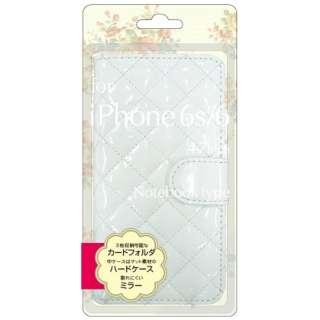 iPhone 6s/6用 手帳型 エナメル生地手帳型ジャケット ホワイト BJEM-IP6WH
