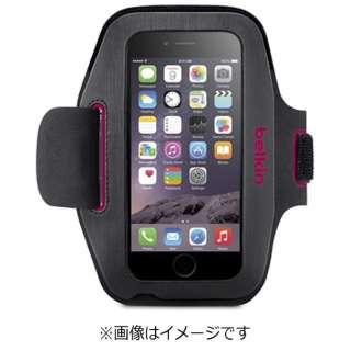 iPhone 6s/6用 Sport-Fit アームバンド グレイ/ピンク F8W619btC01 JP