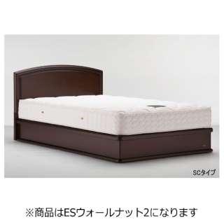【フレームのみ】収納なし ライフトリートメント LT-121F-SC[スノコ床板](セミダブルサイズ/ESウォールナット2)【日本製】 フランスベッド