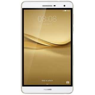 【LTE対応 NanoSIM】SIMフリー Android 5.1タブレット[7型・Snapdragon 615・ストレージ 16GB・メモリ 2GB]MediaPad T2 7.0 Pro ゴールド PLE-701L ゴールド [7型 /ストレージ:16GB /SIMフリーモデル]