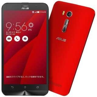 ZenFone GO Seriesレッド「ZB551KL-RD16」 Snapdragon 400 5.5型・メモリ/ストレージ:2GB/16GB microSIMx2 ドコモ/au/Ymobile SIM対応 SIMフリースマートフォン