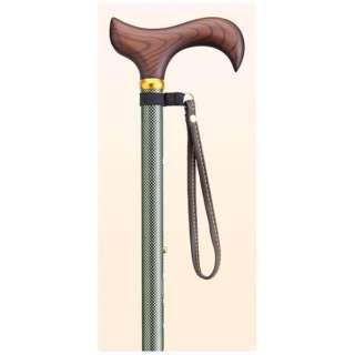 愛杖 太杖 伸縮タイプ E-63 グリーン(チェック柄)
