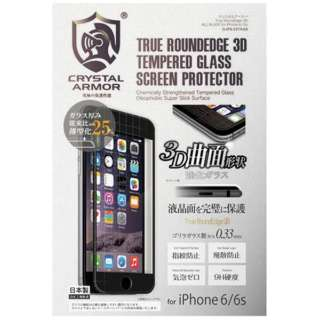 iPhone 6s/6用 クリスタルアーマー True RoundEdge 3D ブラック G-IP6-33TRAB