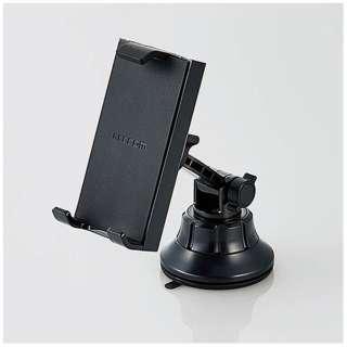 車載タブレット対応スタンド(ゲル吸盤・ブラック) P-CARTB01BK