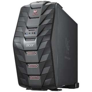 AG3710-N58F/G ゲーミングデスクトップパソコン Predator G3 ブラック [モニター無し /HDD:1TB /メモリ:8GB /2016年6月]