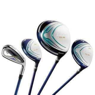 レディース ゴルフクラブ ZEPHYR 7本セット《ゼファーオリジナル カーボンシャフト+ヘッドカバー付》L