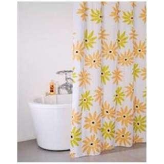 シャワーカーテン フラワー(130×150cm/イエロー)