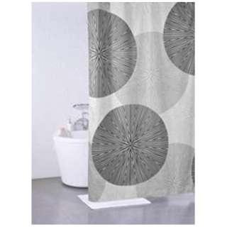 シャワーカーテン サークル(130×180cm/グレー)
