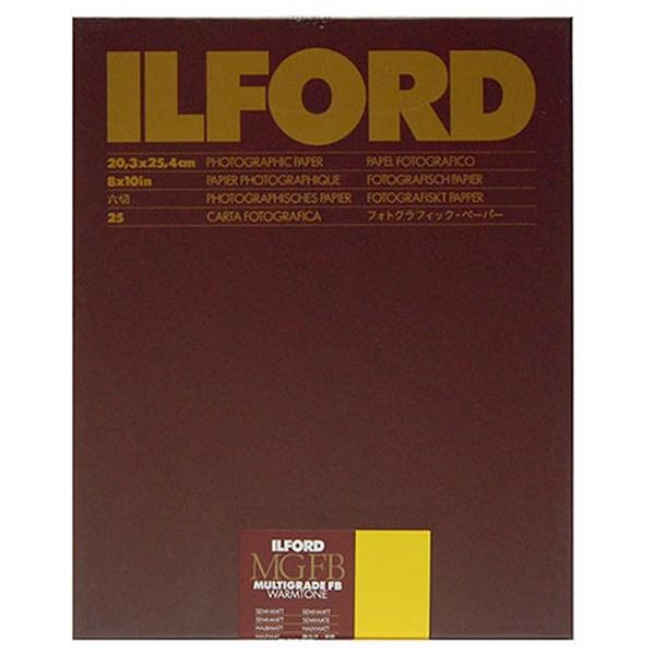 イルフォード マルチグレードFBウォームトーン 24K Semi-Matt微光沢 六切8×10インチ 25枚入 MGFBWT 24K 8X10 25 BX