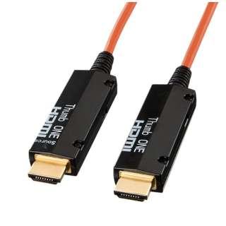 KM-HD20-FB10 HDMIケーブル コネクタ:ブラック、コード:オレンジ [10m /HDMI⇔HDMI]