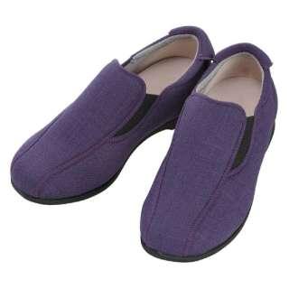 【ケアシューズ】モカスリップオン(M/紫)《両足》