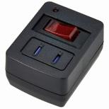 ブレーカー機能付き省エネタップ ブラック Y02FBHKS110BK [直挿し /1個口 /スイッチ付き(個別)]