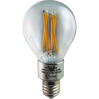 LDG3L-E17/C/24/45/D LED電球 ミニボール電球形 DECO LIGHT LED Filament BASIC(デコライトLED・フィラメントベーシック) クリア [E17 /電球色 /1個 /一般電球形 /全方向タイプ]