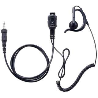 小型タイピンマイク&イヤホン(耳掛け式オープンエアー型)カールコード SSM59ACA