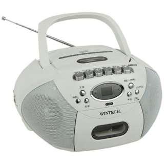 CDR-B39W ラジカセ WINTECH(ウィンテック) [ワイドFM対応 /CDラジカセ]