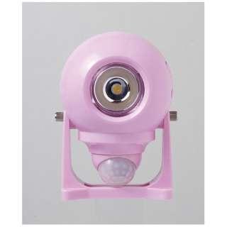 どこでも簡単センサーライト(ピンク) DLB-NH200