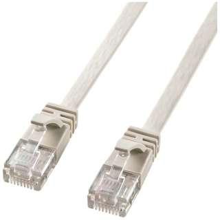 KB-FL6-02CN LANケーブル ホワイト [2m /カテゴリー6 /クロスLANケーブル]