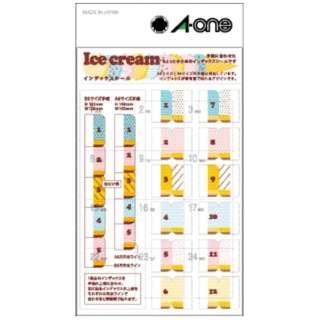 手帳用シール インデックスシール Ice cream アイスクリーム 05261 [1シート /12面 /光沢]