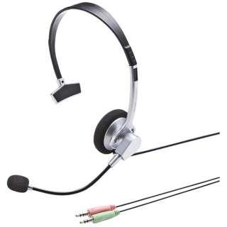 MM-HS519NCN ヘッドセット [φ3.5mmミニプラグ /片耳 /ヘッドバンドタイプ]