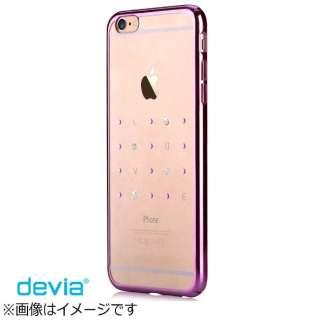 iPhone 6s/6用 Devia Crystal Love ローズピンク BLDV-076-PK