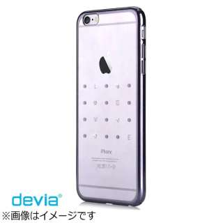 iPhone 6s/6用 Devia Crystal Love ガンブラック BLDV-076-BK
