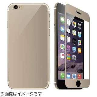 iPhone 6s/6用 ガラススクリーンプロテクター ゴールド IP6M-32GD-