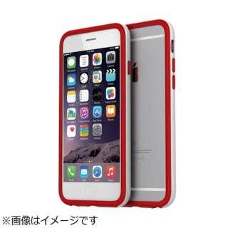 iPhone6 (4.7) Hue Bumper ホワイト+レッド