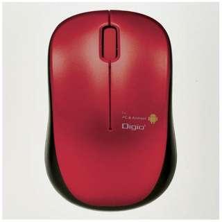 MUS-UKT122R マウス Digio2 ケーブル巻き取りタイプ レッド [BlueLED /3ボタン /USB /有線]