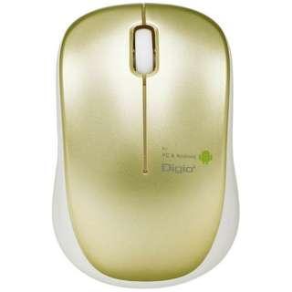 MUS-UKT122GL マウス Digio2 ケーブル巻き取りタイプ ゴールド [BlueLED /3ボタン /USB /有線]