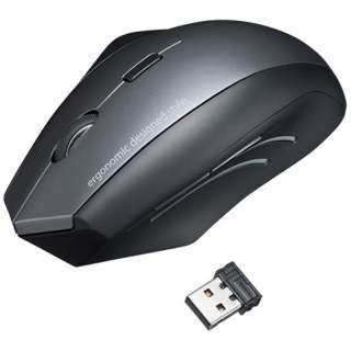 MA-ERGW8 エルゴノミクスマウス [BlueLED /5ボタン /USB /無線(ワイヤレス)]