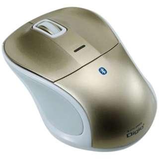 MUS-BKT111GL タブレット対応 マウス Digio2 ゴールド [BlueLED /3ボタン /USB /無線(ワイヤレス)]