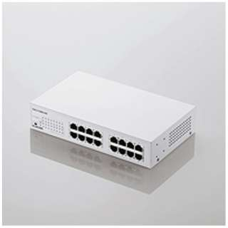 10/100Mbps対応スイッチングHub/16ポート/金属