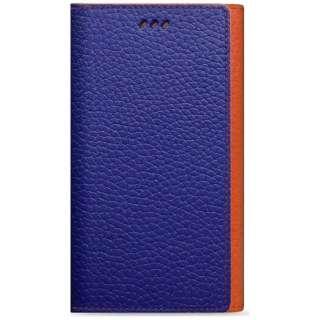 iPhone6 (4.7) 手帳型 Z-folder お財布ケース ブルー+オレンジ