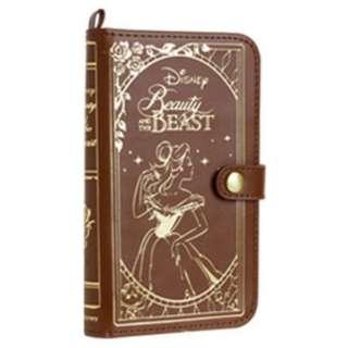スマートフォン用[幅 75mm] ディズニーキャラクター Old Book Case プリンセス 美女と野獣