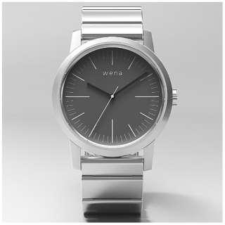 ウェアラブル端末 「wena wrist Three Hands Silver」 WN-WT01S