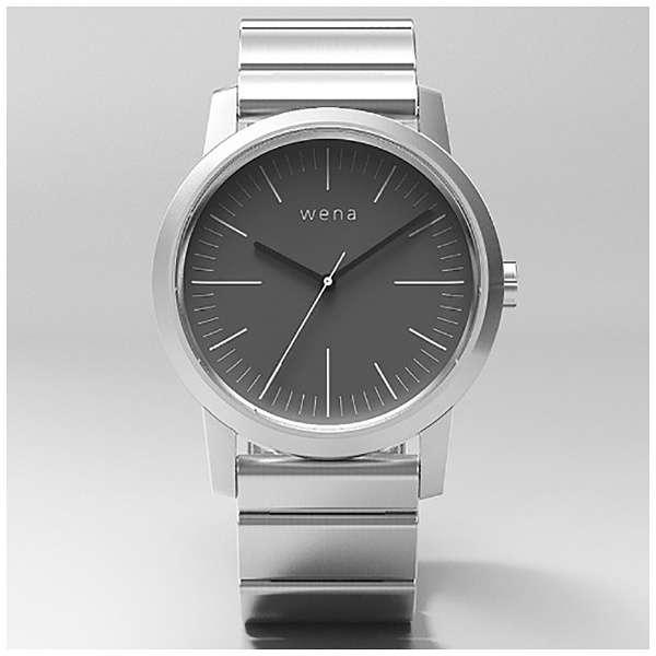 WN-WT01S ウェアラブル端末 wena wrist Three Hands シルバー