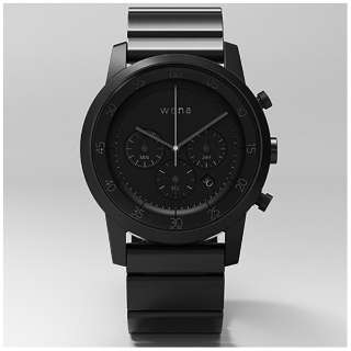 ウェアラブル端末 「wena wrist Chronograph Black」 WN-WC01B
