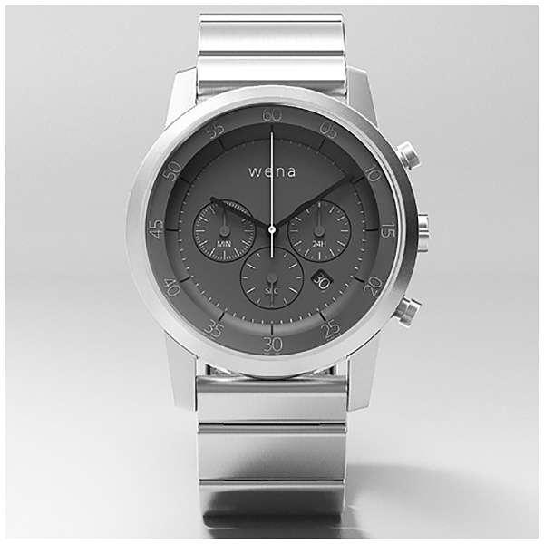 ウェアラブル端末 「wena wrist Chronograph Silver」 WN-WC01S