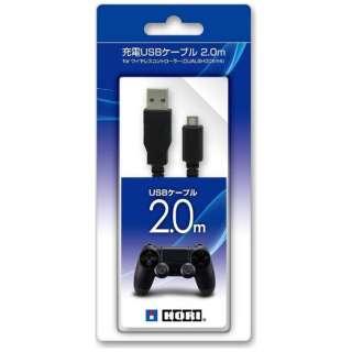 充電USBケーブル 2.0m for ワイヤレスコントローラー DUALSHOCK4【PS4】