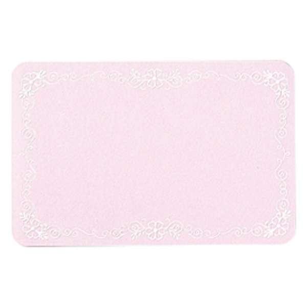 [グリーティングカード] ネームカード ピンク