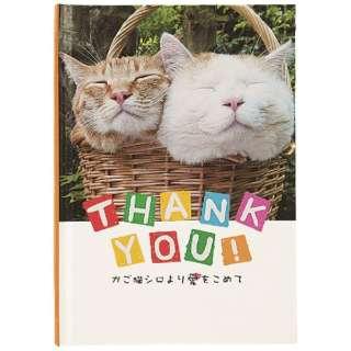 [グリーティングカード] かご猫 メッセージブック TY 二匹 E10050