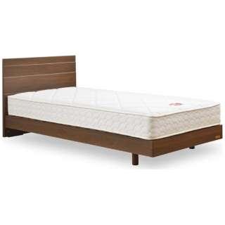 【フレーム&マットレス】収納なし メモリーナ65[レッグ/スノコ床板](シングルサイズ/ウォールナット) + MH-030セット【日本製】 フランスベッド