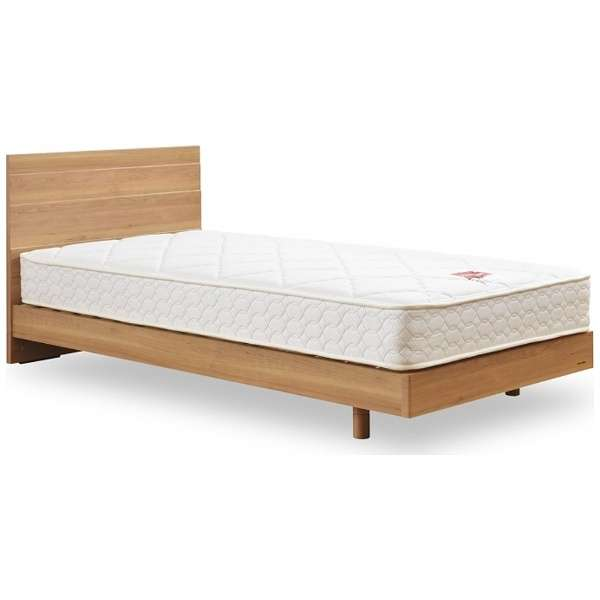 【フレーム&マットレス】収納なし メモリーナ65[レッグ/スノコ床板](シングルサイズ/ナチュラル) + MH-030セット【日本製】 フランスベッド