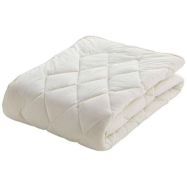 【ベッドパッド】フランスベッド クランフォレスト 羊毛ベッドパッド(ワイドダブルサイズ/154×195cm/キナリ)