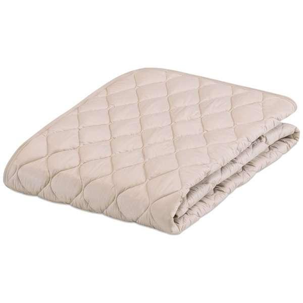 【ベッドパッド】フランスベッド グッドスリーププラス 羊毛パッド(ワイドダブルロングサイズ/154×205cm/ベージュ)[生産完了品 在庫限り]