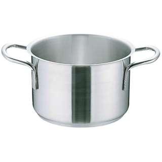 《IH対応》 ムラノ インダクション18-8半寸胴鍋 (蓋無)20cm <AHVA302>