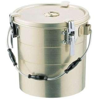 アルマイト 丸型二重クリップ付食缶 238-A (10l) <ASY15238>
